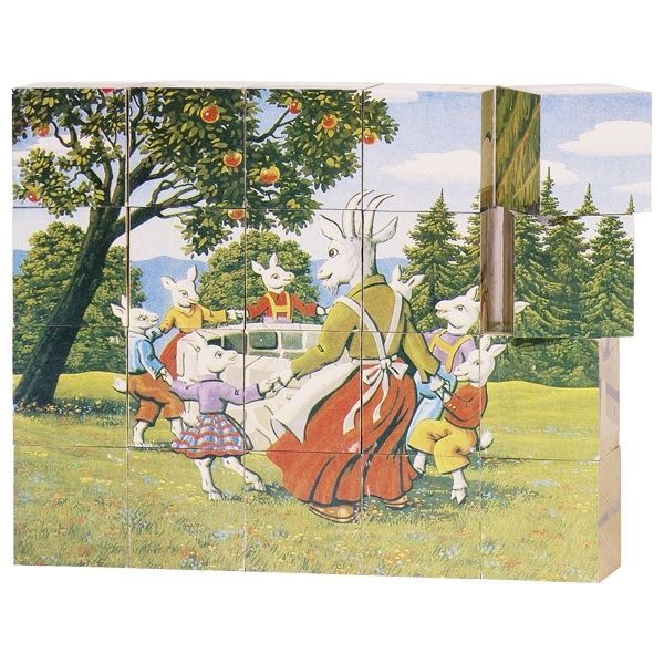 Goki Fairy Tale 20 Piece Cube Puzzle 3+ Years