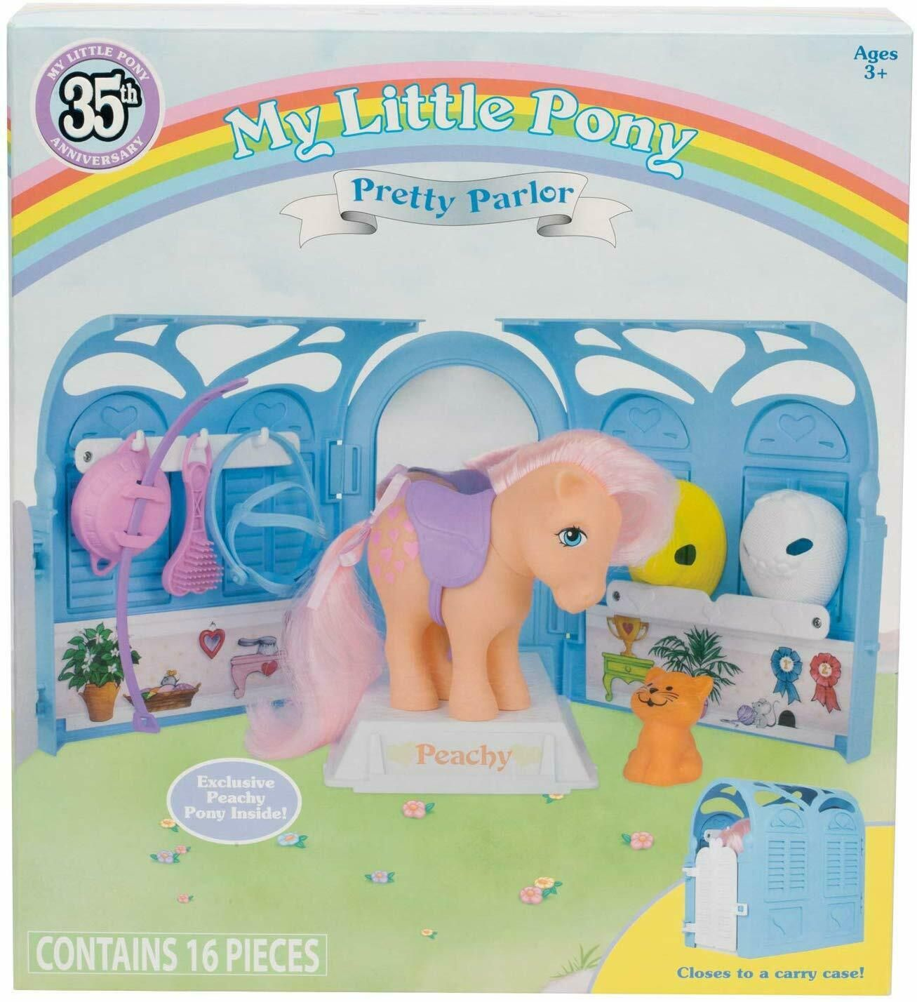 My Little Pony Retro 35th Anniversaire Pretty Parlour Playset Includes Peachy
