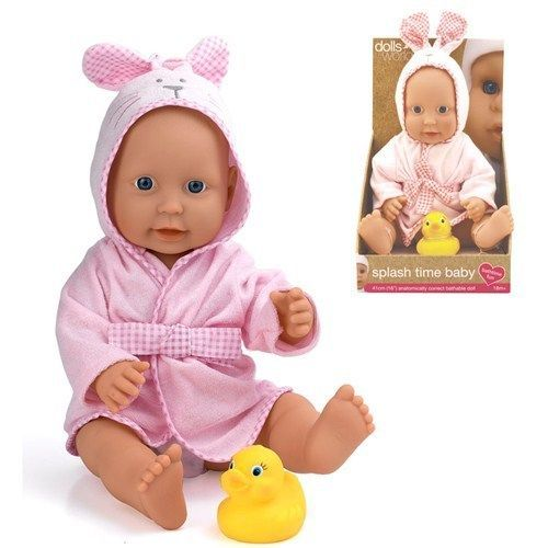 Splash time bathable baby girl doll 41cm (16in)