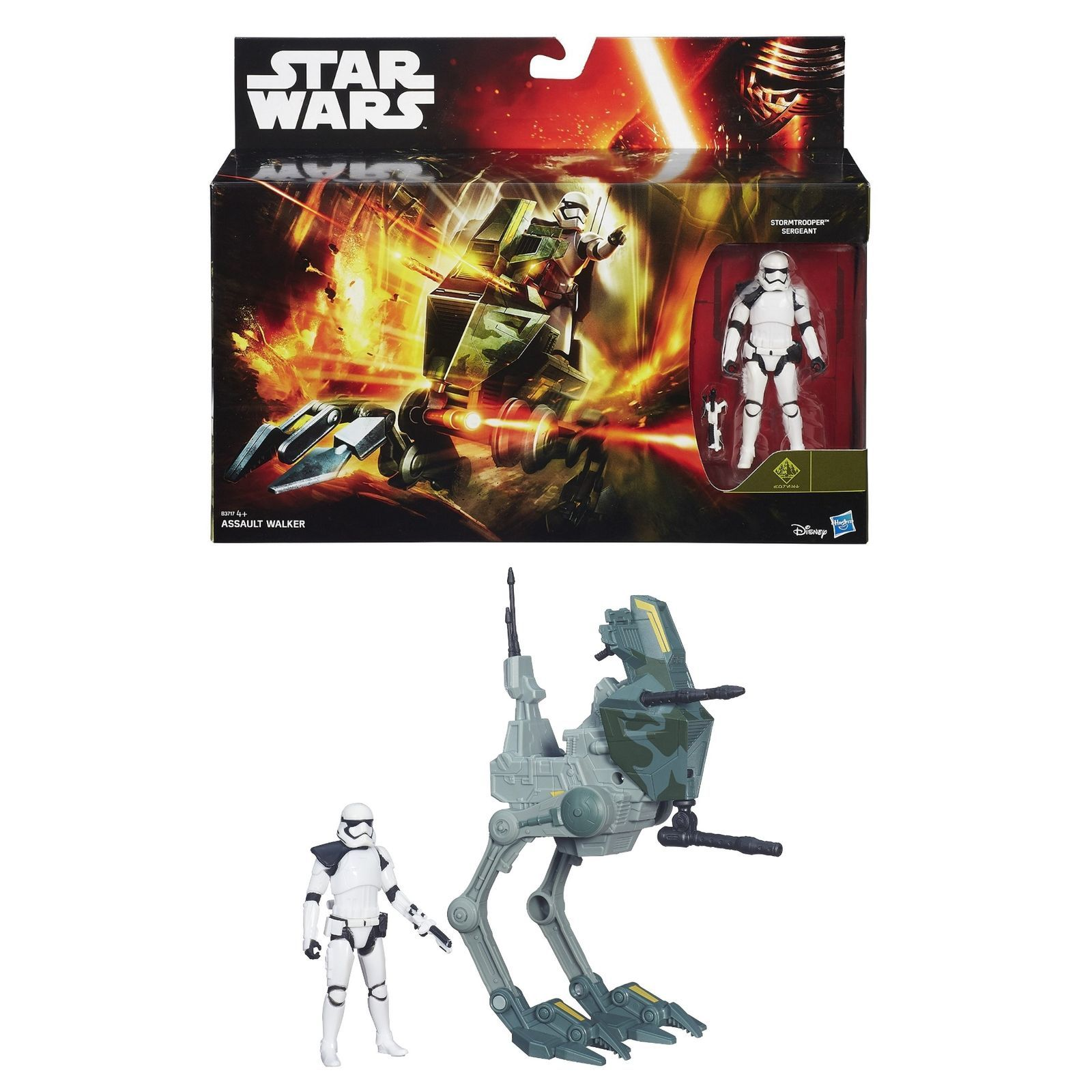 Star Wars The Force Awakens Assault Walker Vehicle Toy With 3.75inch Figure 2015
