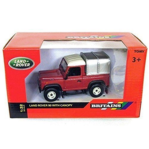 Tomy Britains 1:32 Scale Childs Toy Land Rover Defender 90 with Canopy