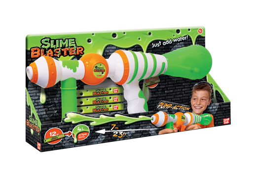 Zimpli Kids Toy Slime Blaster Spray Slime Water gun with 12 Slime Sachets